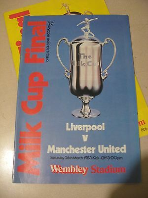 1983 League Cup Final Liverpool v Manchester United 26.3.1983 @ Wembley