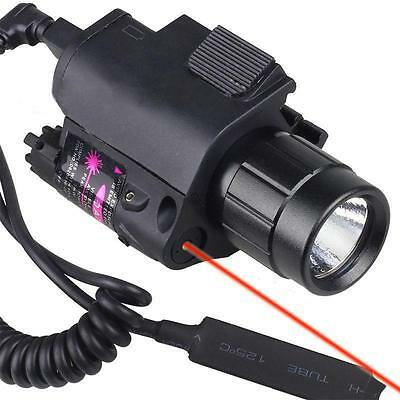 New Tactical Combo Flashlight/Light Torch Red Laser Sight Fit For Pistol Hunting