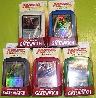 MTG Magic the Gathering Oath of the Gatewatch Intro Packs Complete Set of all 5