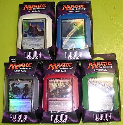 MTG Magic the Gathering Eldritch Moon Intro Packs Complete Set of all 5