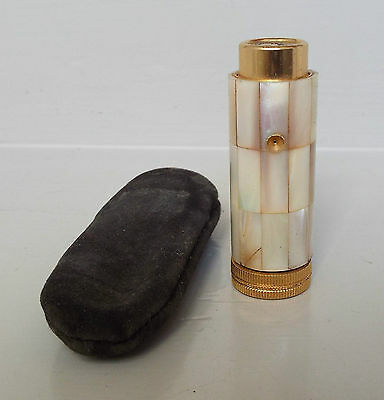 Antique/Vintage Mother of Pearl Perfume Atomiser & Pouch