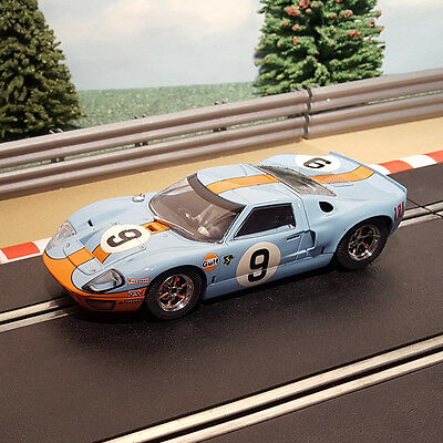 Scalextric 1:32 Car - C2403 Le Mans 1966 Blue Ford GT40 #9 *LIGHTS*