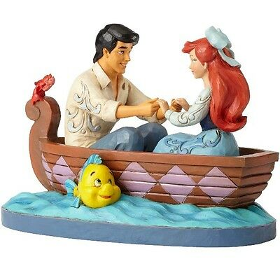 Disney Traditions Little Mermaid Ariel & Prince Eric Waiting For A Kiss Statue