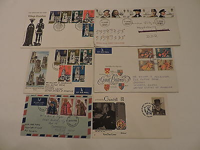 60 first day covers, Great Britain, 1972-1988