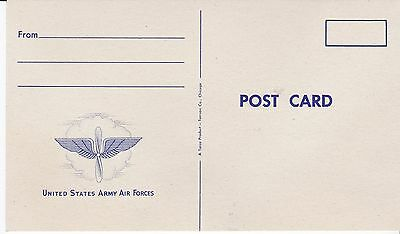 Postcard, US Army Air Force, 1940s, mint
