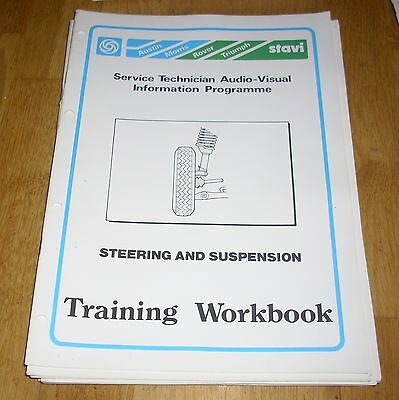 Leyland Cars Training Workbook Austin Morris Steering & Suspension