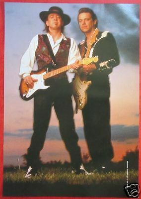 Vaughan Brothers Stevie Ray Vaughan & Jimmie Vaughan 1991 CLIPPING JAPAN RO 2A