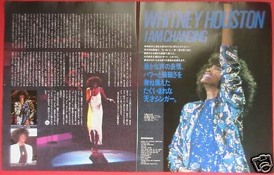 WHITNEY HOUSTON in JAPAN 1987 CLIPPING JAPAN MAGAZINE PG 1A 3PAGE
