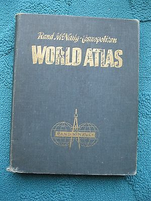 VINTAGE RAND McNALLY COSMOPOLITAN WORLD ATLAS 1958 SPACE RACE MAPS OF THE STATES