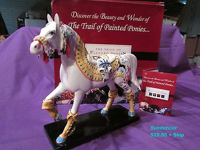 """7""""H Trail of Painted Ponies SUNDANCER Horse Embossed Buffalo & More! 2008 MIB!"""