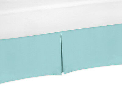 Turquoise Queen Size Bed Skirt Dust Ruffle for Sweet Jojo Emma Floral Bedding