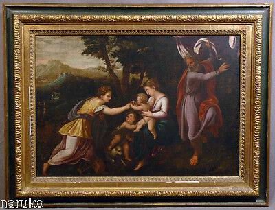 "OLD MASTER O/P PAINTING 18"" x 25"" MISTIC MARRIAGE OF ST CATHERINE PAOLO FARINATI"