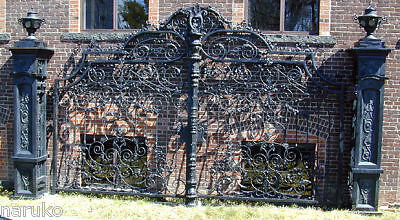 CAST IRON DRIVEWAY GATES 18ft  IRON IDEAL FOR WINERY OR LG ESTATE