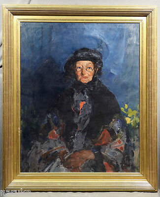 Martha Walter Oil Painting Of An Elderly Woman Directly From The Walter Estate