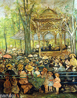 A Great Oil Painting Of Central Park's Band Shell Jerome Myers He Predated The 8