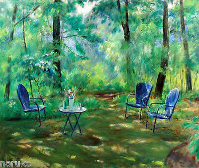 Martha Walter O/c Painting Chairs And Table In Park Sale Off Marked Price