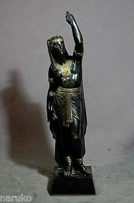 Antique Bronze Casting Of Egyptian Figure By Picault Most Desired Bronze