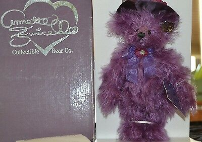 Annette Funicello VICTORIAN Coll. Bear AMY Amethyst Mohair Jointed  New in Box