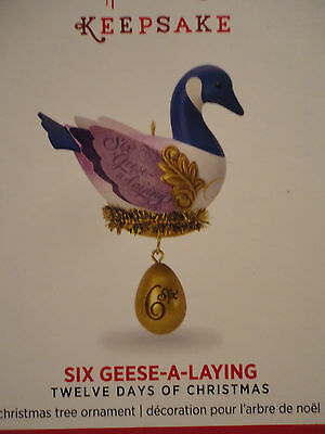 2016 Hallmark Ornament NEW Six Geese a Laying THE TWELVE DAYS OF CHRISTMAS 6th 6