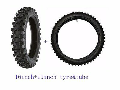 16''+19'' FRONT +REAR Off Road Tyre Tire & Inner Tube For Motorcycle Dirt bike