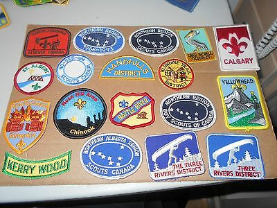 (Qo7-R)  Fifty Different Alberta Listed Badges Plus Nine Duplicate Badges