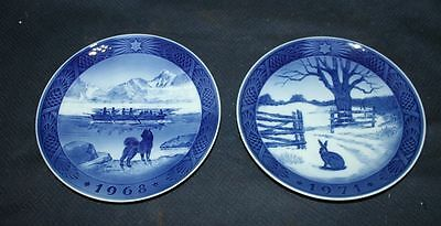 Excellent Royal Copenhagen Xmas Christmas Plate - 1968 1971