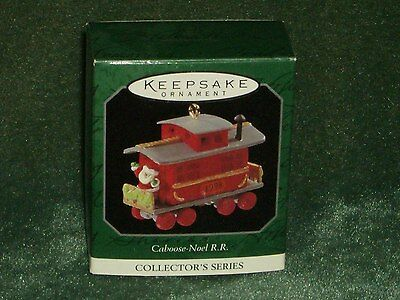 Hallmark 1998 Caboose - Noel R.R. - Miniature Ornament - NEW