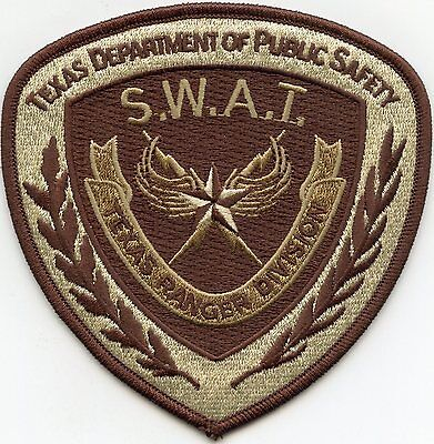 TEXAS TX STATE Department of Public Safety DPS RANGERS brown SWAT POLICE PATCH