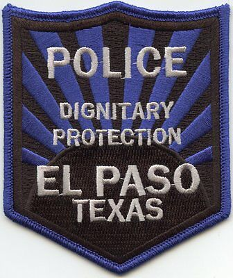 EL PASO TEXAS TX Dignitary Protection POLICE PATCH