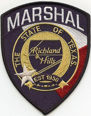 RICHLAND HILLS TEXAS TX MARSHAL sheriff police PATCH