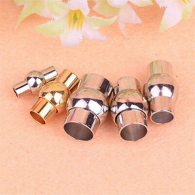 5/50pcs Silver Plated/copper Magnetic Clasps 2-8mm glue in for Jewelry Findings
