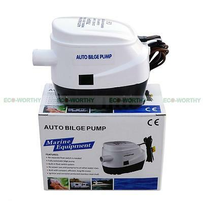12V Boat Automatic Submersible Bilge Water Pump 750GPH Auto With Float Switch UK