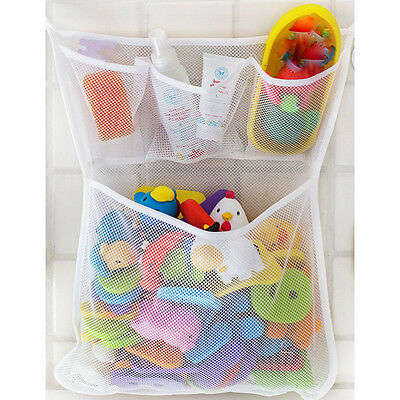 Baby Bath Bathtub Toy Mesh  Net Storage Bag Organizer Holder Bathroom SK
