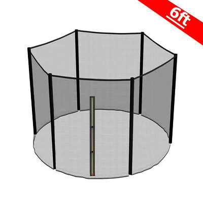6FT Trampoline Replacement Safety Net Enclosure Surround Outside Netting New