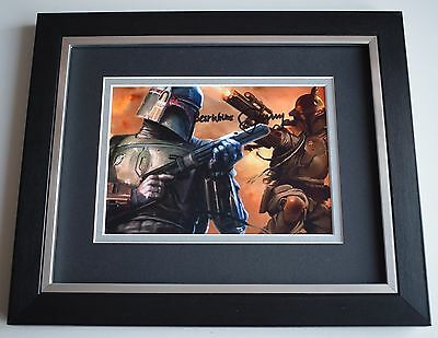 Jeremy Bulloch SIGNED 10x8 FRAMED Photo Autograph Display Star Wars Film & COA