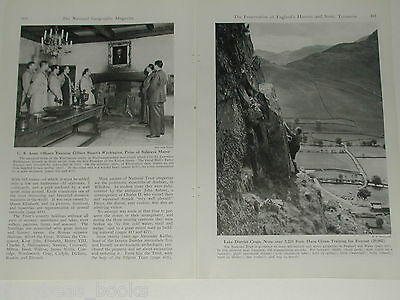 1945 magazine article Preservation of England's Treasures WWII damage