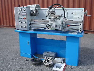 """36""""X12"""" (910mm x300mm) Geared Head Metal Lathe W/Coolant+Worklight+Stand Cabinet"""