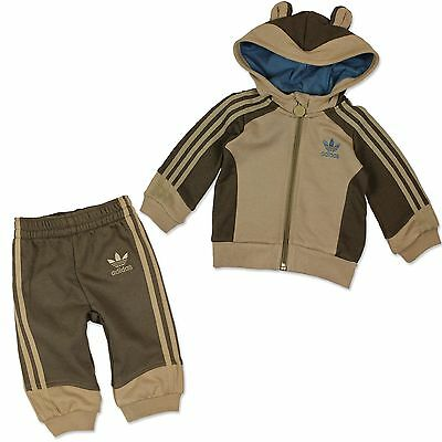 Adidas Originals Kinder Monkey Trainingsanzug  Baby Sport Tier Anzug Affe Braun