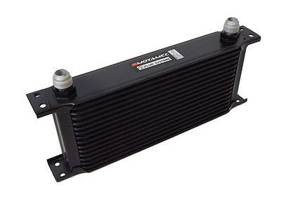 Motamec Oil Cooler 16 Row - 235mm Matrix -10 AN JIC - Black Alloy