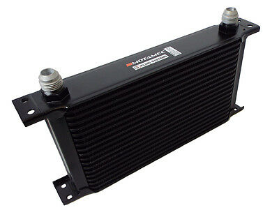 Motamec Oil Cooler 19 Row - 235mm Matrix -10 AN JIC - Black Alloy