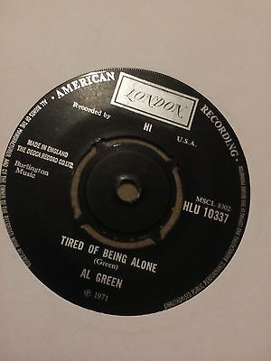 """Al Green - Tired Of Being Alone 7"""" single VG"""