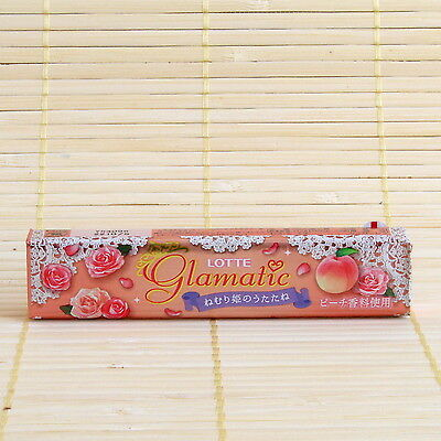 Japan Lotte GLAMATIC GUM 1pk FLORAL PEACH momo Japanese Chewing Candy Xylitol