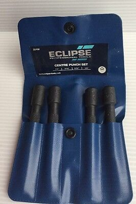 New Spear & Jackson Eclipse Centre Punch Set 351W 4 Pieces In Pouch Boxed