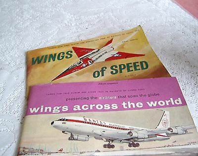 2 x LYONS TEA CO. ALBUMS OF  CARDS—WINGS OF SPEED & WINGS ACROSS THE WORLD.