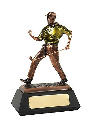 Golf Awards Bronze Plated Resin Figures (Highly Detailed)