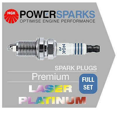 AUDI A4 1.8 TURBO 09/04- BFB NGK LASER PLATINUM SPARK PLUGS x 4 PFR6Q [6458]