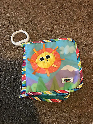 Lamaze Textured Soft Crinkly Baby Tag Book Pram Clip educational Colourful Toy