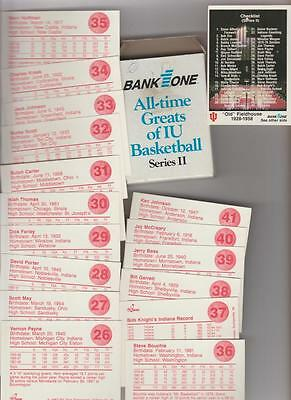 Indiana Univ. / bank All Time greats of basketball 42 dif cards