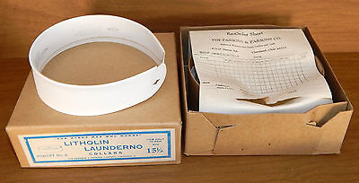4 New Priest Collars ~ Litholin Launderno White Collars New In Box Size 15 1/2