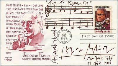 "Harvey SCHMIDT (Composer): Autograph Musical Quotation from ""The Fantasticks"""